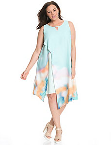 6th & Lane printed overlay dress