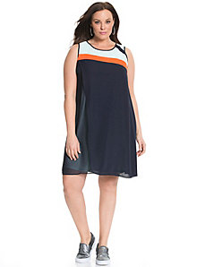 6th & Lane striped chiffon dress