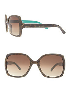 Tortoiseshell sunglasses with color pop arms