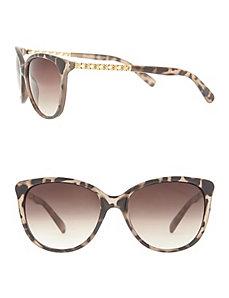 Tortoiseshell sunglasses with filigree details