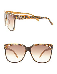 Leopard brow detail sunglasses