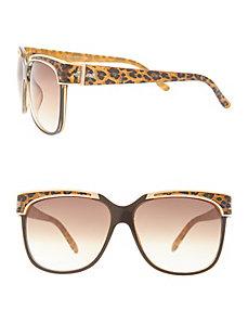 Leopard brow detail sunglasses