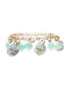 Stone bauble stretch bracelet