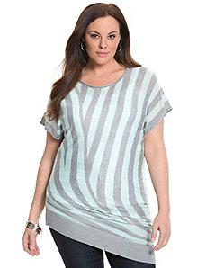 6th & Lane asymmetric striped sweater