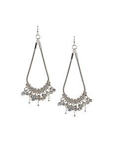 Chain drop teardrop earrings