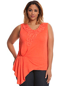 Crochet Lace peplum top
