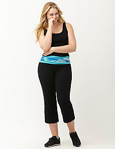 Signature Stretch printed yoga capri