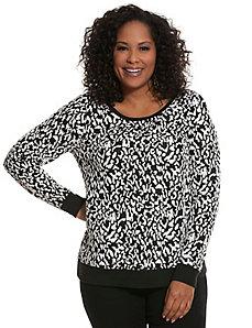 Animal jacquard sweatshirt