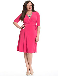 Essential wrap dress by Kiyonna
