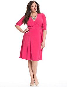 Essential wrap dress by Kiyonna