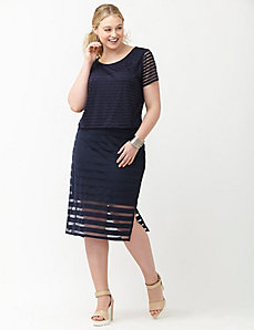 6th & Lane shadow stripe pencil skirt