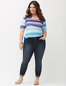 Cropped skinny jean with Tighter Tummy Technology