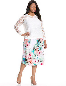 Floral circle skirt by MODAMIX