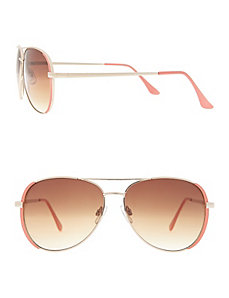 Coral aviator sunglasses