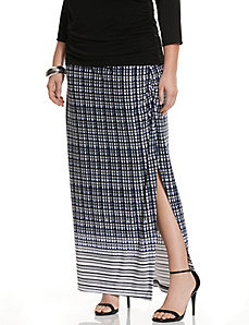 Simply Chic matte Jersey printed maxi skirt