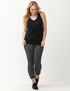 TruDry antimicrobial marled active capri legging