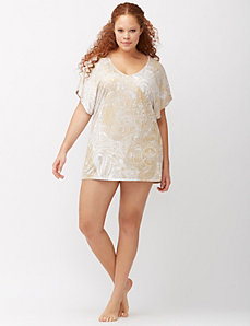Gold paisley swim cover up