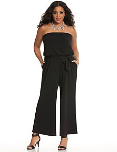 Strapless ankle length jumpsuit