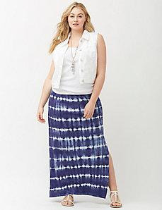 Tie dye stripe maxi skirt