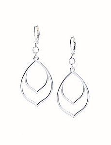 Double pointed drop earrings