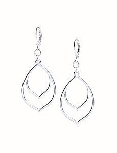 Double pointed drop earrings