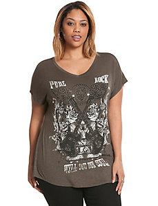 Pure Rock embellished tee