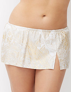Gold paisley swim skirt