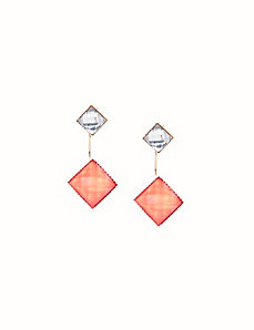 Stone front to back earrings