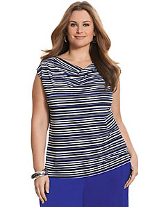 Simply Chic striped matte Jersey tank