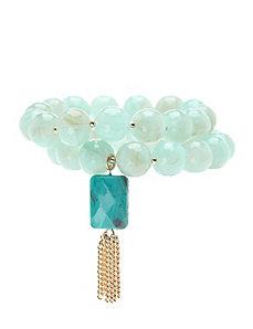 2 row bead bracelet