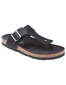 Metallic footbed sandal