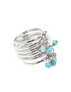 Beaded spring ring