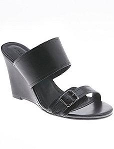 Stella leather wedge sandal