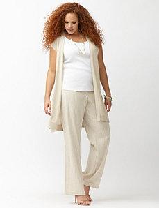 Lena railroad stripe linen trouser