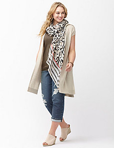 Sahara leopard scarf