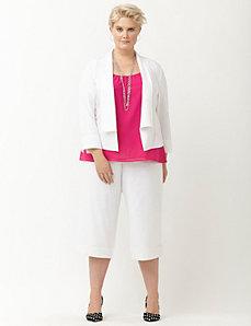 Linen flyaway jacket