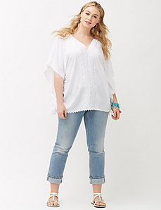 Crocheted drama top