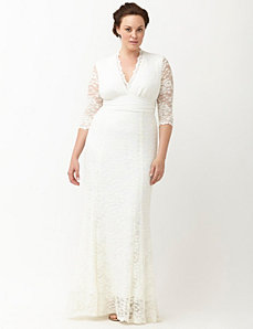 Amour lace wedding dress by Kiyonna
