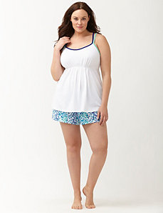 Paint streak short PJ set