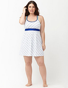Bias striped knit chemise