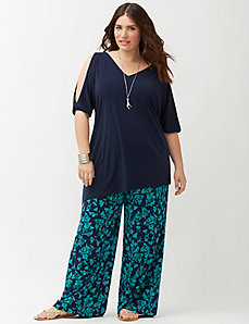 Simply Chic floral wide leg pant
