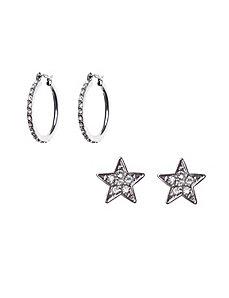 Star & hoop earring duo