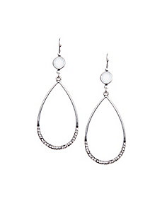 Teardrop earrings with stone