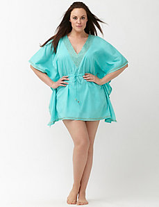 6th & Lane embellished caftan cover up