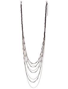 Hematite beaded chain necklace