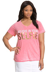 Believe in Your Selfie tee