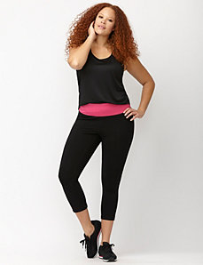 Signature Stretch colorblock capri legging