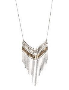 Fringed bib necklace