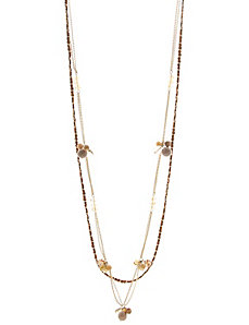Suede station necklace