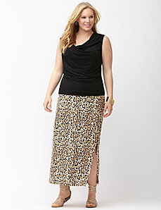 Simply Chic matte Jersey animal print maxi skirt